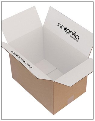 White Inside with Logo Print eCommerce Box