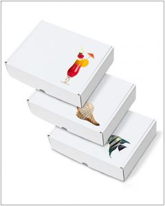 Printed Postal Packaging Box